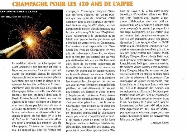 L'AJPBE a 120 ans, l'âge de raison... BON ANNIVERSAIRE à la presse périodique !!!