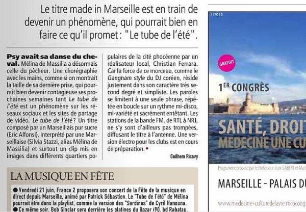 """BES présente : Mélina de Massilia dans """"Le tube de l'été il est Marseillais"""""""