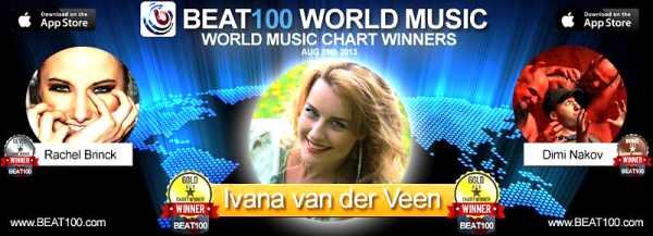 Ivana won the #1 place in the WORLD music video chart on BEAT 100