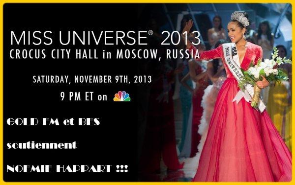 Qui sera MISS UNIVERSE 2013 ? Réponse ce samedi 09 novembre !!!