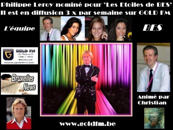 """PHILIPPE LEROY 1er nominé pour """"LES ETOILES DE BES"""" 2014"""