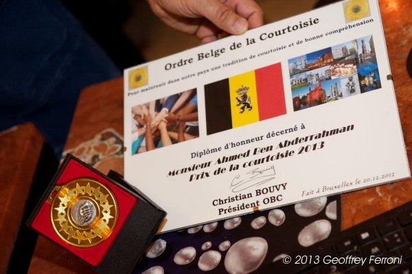Prix de la Courtoisie 2013 - Hôtel Mozart - 20.12.2013