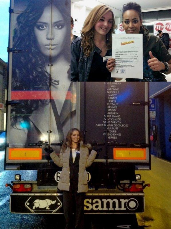 """Amel BENT reçoit """"Les Etoiles de BES"""", à Lausanne en Suisse - 20.12.2013"""