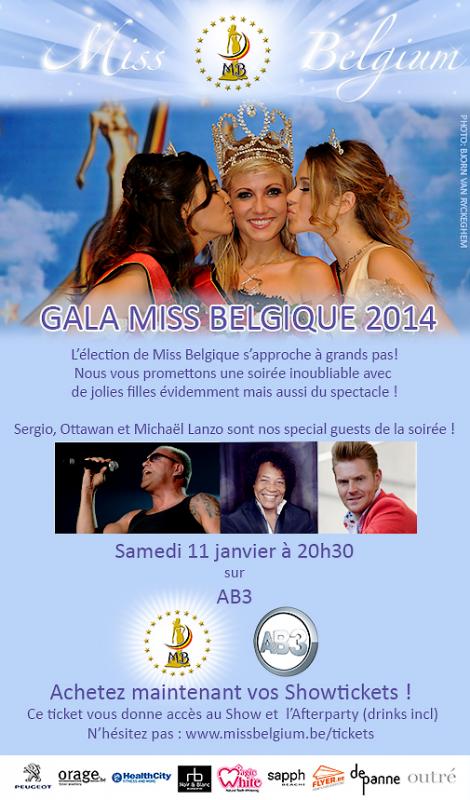 J - 7 pour MISS BELGIQUE 2014 / Une révolution annoncée pour 2015 !!!