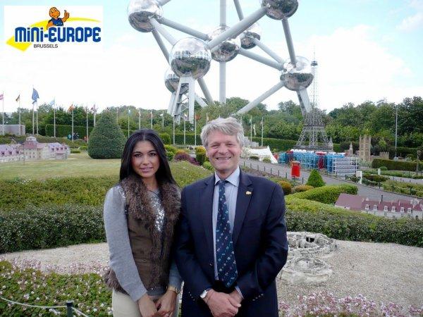 En reportage à MINI-EUROPE, avec ASSIA (Journaliste) et Miss photogénie BES 2014