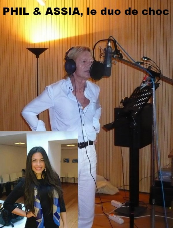 Assia prochainement en studio pour poser sa voix - Duo avec Philippe Leroy