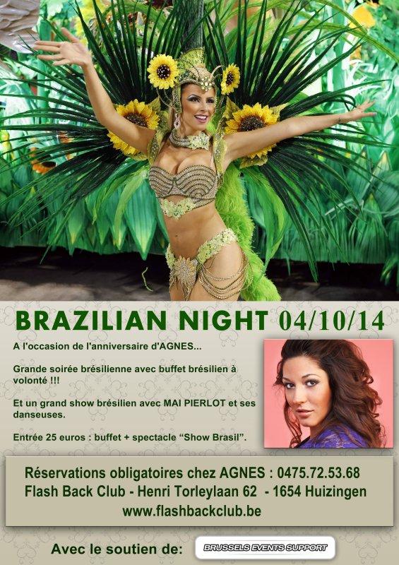 Grande soirée brésilienne au FLASH BACK CLUB le 04.10.2014 avec MAI PIERLOT