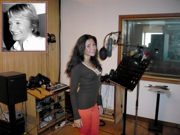 Assia en studio pour poser sa voix pour le duo avec Philippe Leroy - 28.08.2014