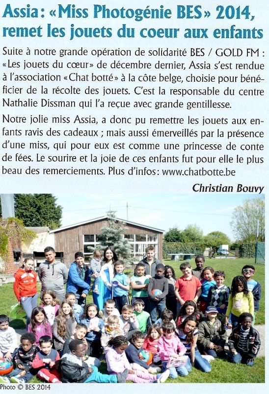 "BRUSSELS EVENTS SUPPORT : ""Opération Jouets du Coeur"" - 2014"