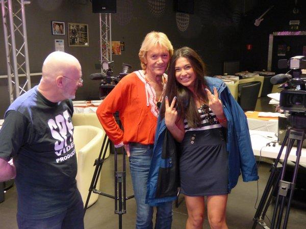 """Tournage du clip officiel la chanson : """"Je t'aime"""", avec Philippe Leroy et Assia Sever"""