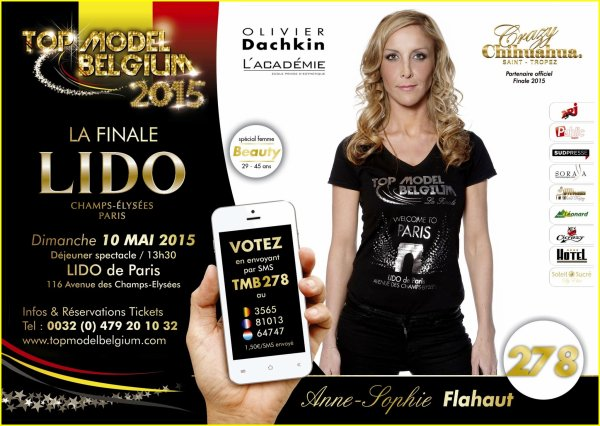 BES présente : TOP MODEL BELGIUM 2015 - Finale le 10 mai au LIDO à PARIS