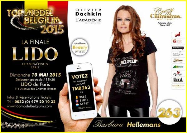 TOP MODEL BELGIUM 2015 - Grande finale le 10 mai au LIDO à PARIS