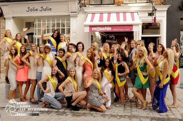 Finalistes wallonnes pour Miss Belgique 2016 : Une journée magique à Bruges !