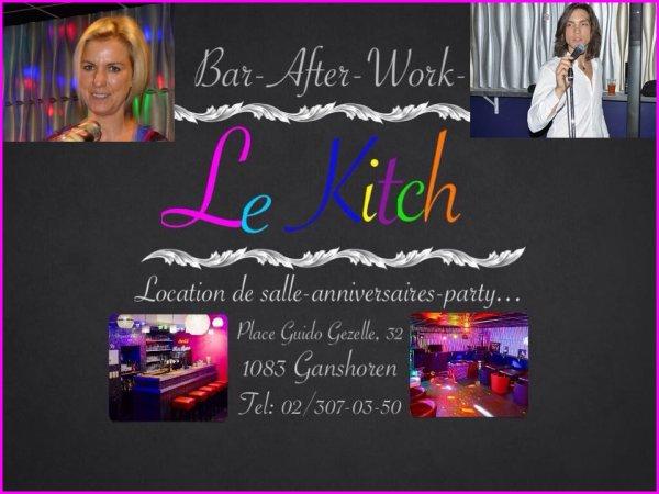 Soirée festive au Kitch avec notre chanteuse Sabine !!! 08.08.2015