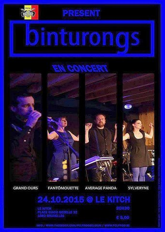 "Concert des ""BINTURONGS"" au KITCH ce 24 octobre - Photos des répétitions"