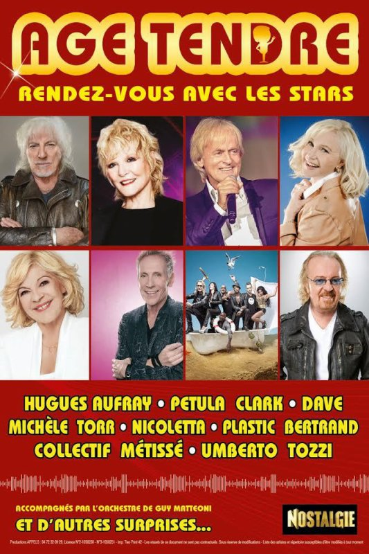 """La tournée """"AGE TENDRE"""" : 10 ans déjà !"""