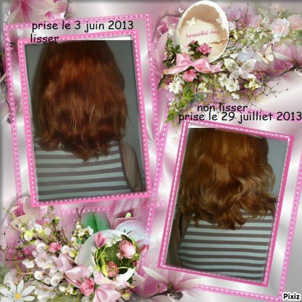 petite evolution de mes cheveux
