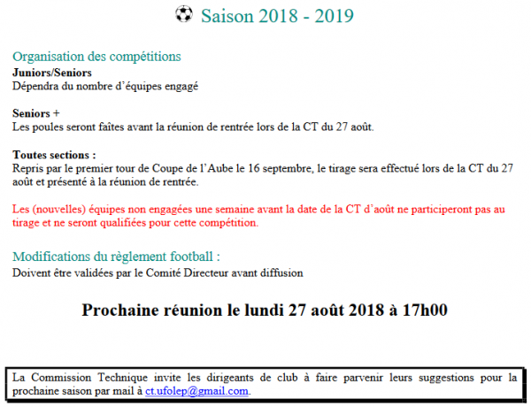 saison 2018 - 2019 :