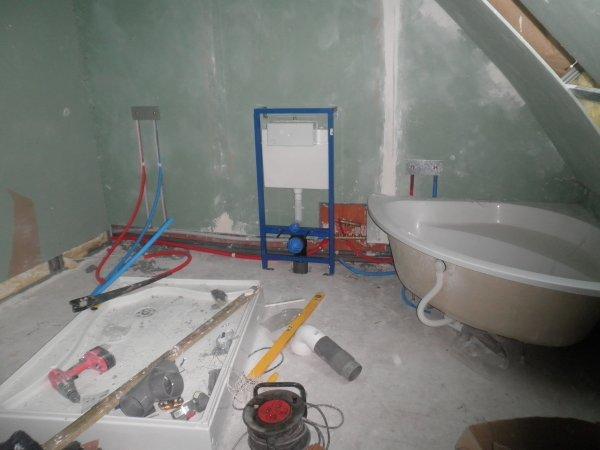 La plomberie de la salle de bain