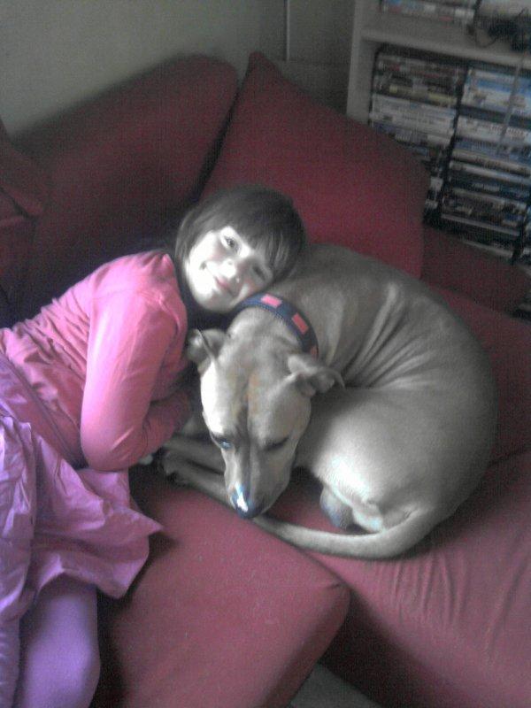 ma grande et mon chien