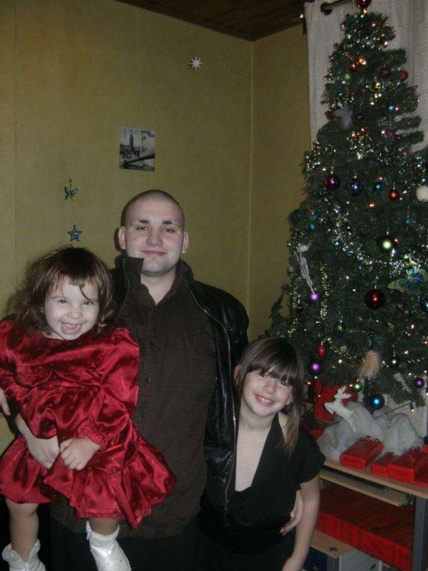 mon homme et mes filles le jours du reveillon de noel