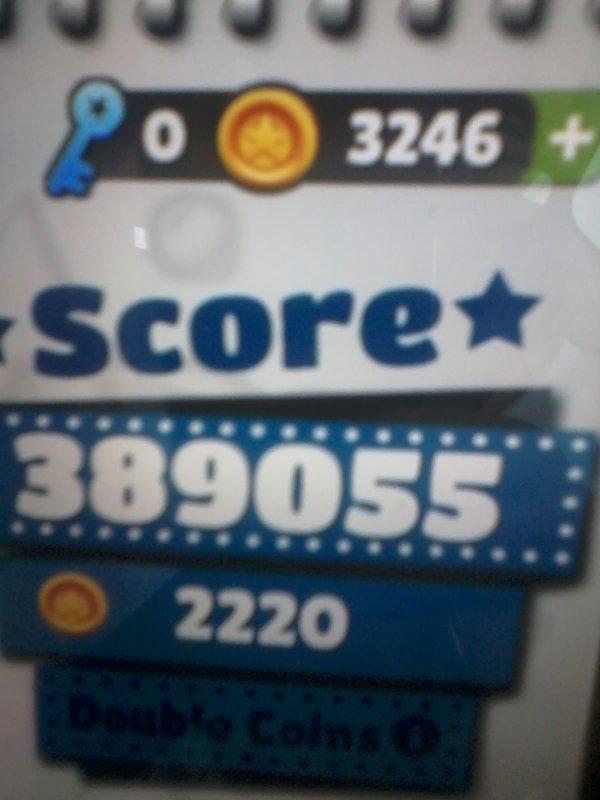 Coool jai battu mon score sur qubway surfer !!