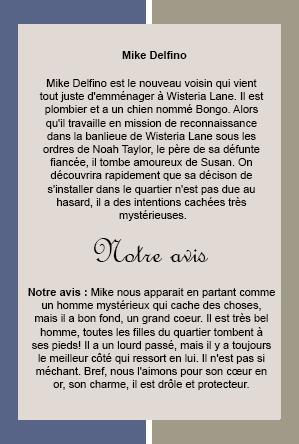 Notre personnage masculin préféré Mike Delfino  interprété par James Denton