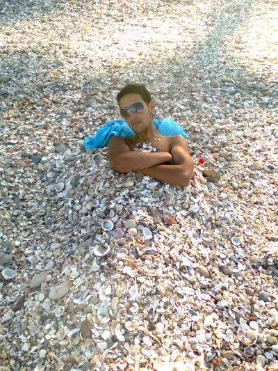 yo en playa de granotel
