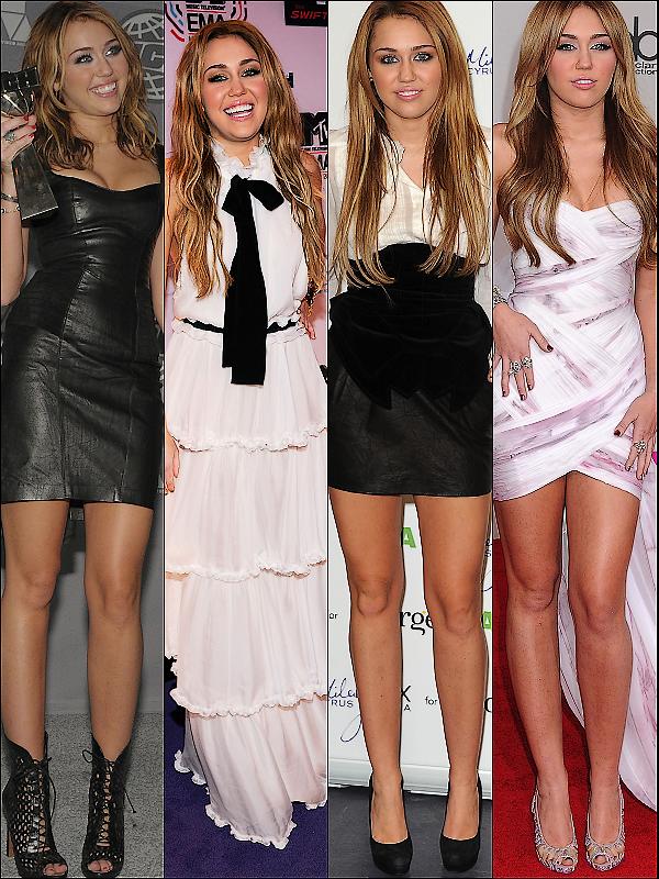 Voici tout les Top des apparitions publiques de Miley Cyrus ! N'hésite pas à donner ton avis ! Admirez.
