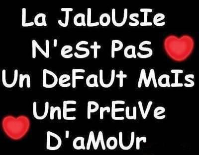 la jalousie :'( :(