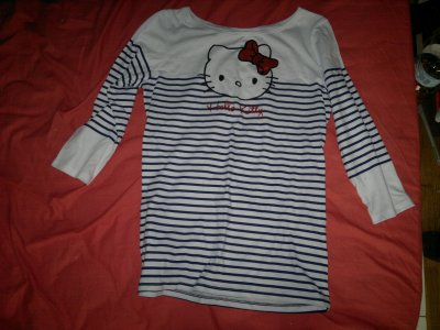 TShirt Hello Kitty bleu & rouge