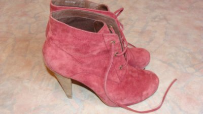 Boots rose rouge, tres tendance !