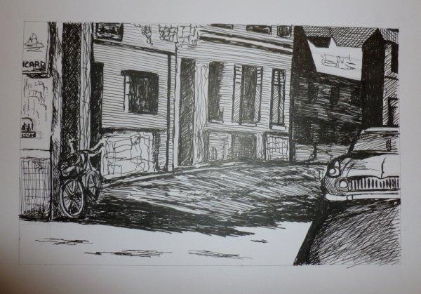Petit dessin à l'encre fait hier
