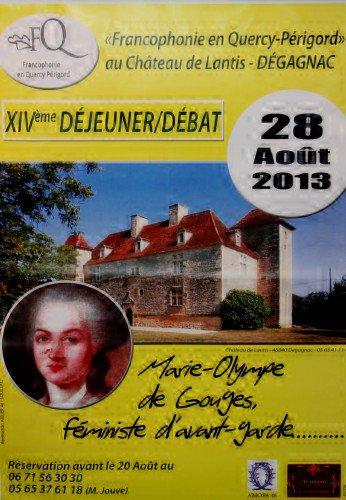 Itinéraire de la Montalbanaise Olympe de Gouges femme d'avant-garde du Quercy