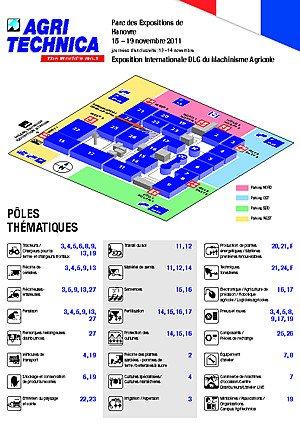 Plan des halls