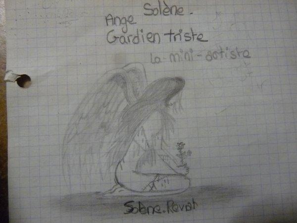 Ange gardien triste 1h30 a dessiner blog de la mini artiste - Dessin d ange gardien ...