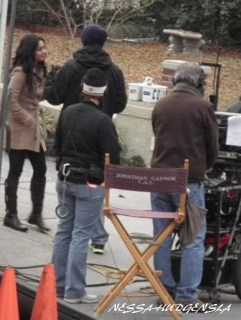 Vanessa Hudgens sur le tournage de Journey 2 en Caroline du Nord , datant du 28 janvier . Le tournage se termine le 10 Février .