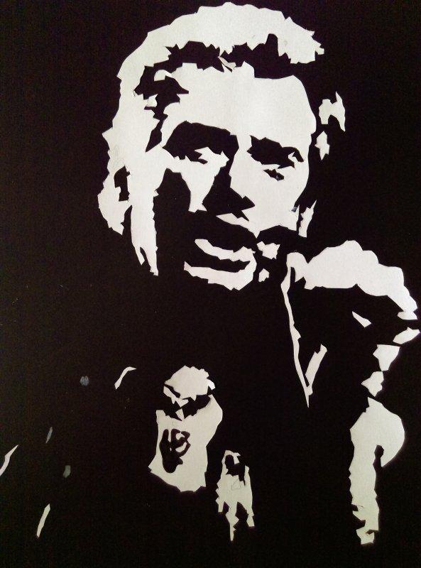 Collage Johnny Hallyday Je Presente Mes Dessins Mes Peintures