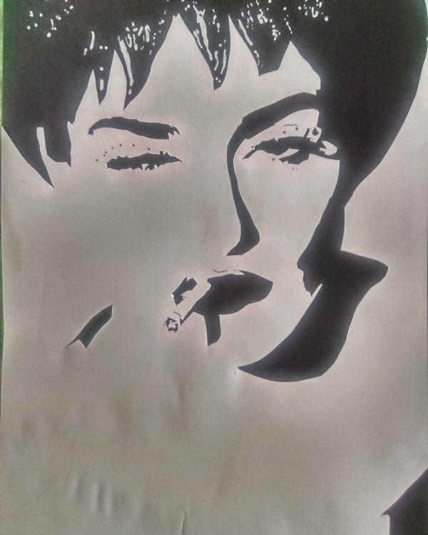 Collage Madonna pour envoyé en Région parisienne