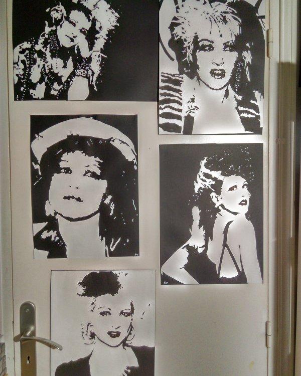 Plusieurs Collages Cyndi Lauper