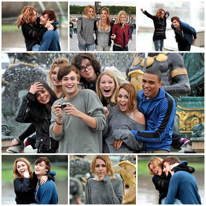 On the Set of LOL at Trocadero Fountain in Paris - September 6