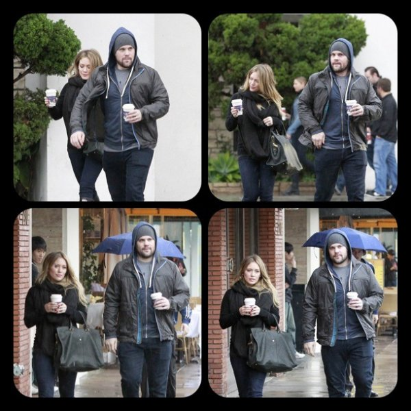Hilary Duff & Mike Comrie in Beverly Hill
