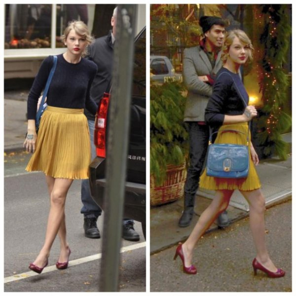 Taylor Swift lors de son passage dans la boutique Ralph Lauren