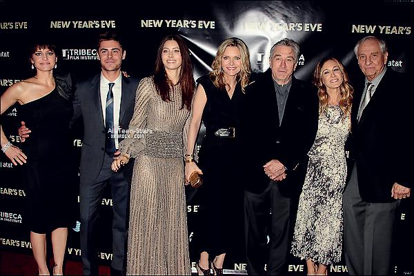 """Zac et le cast du film """" New Year's Eve """" ce sont réunis pour la première du film à New York"""