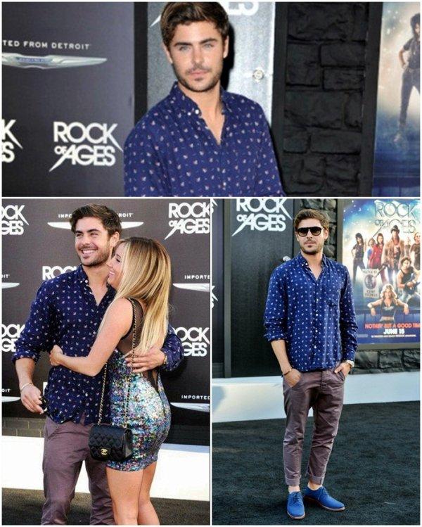 Zac et Ashley à la première du film Rock of Ages le 8 juin 2012.