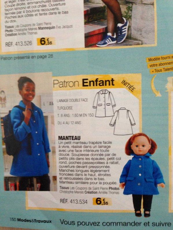 M&T novembre 2017 - Une ravisante veste turquoise pour Emilie....mais à quel prix!