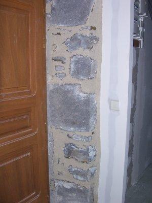 joint entre le placo et le mur de pierre la grande aventure r nover notre maison. Black Bedroom Furniture Sets. Home Design Ideas