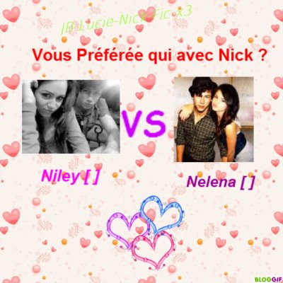 Sondage : Miley , Nick , Selena ?