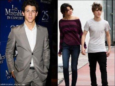 Nick n'en a rien à faire du couple Selena Gomez/ Justin Bieber !