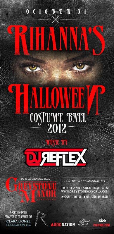 Rihanna's Halloween Costume Ball 2012